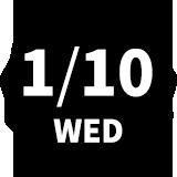 1/10 WED